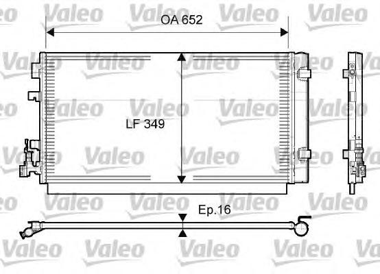 814094 Радиатор кондиционера RENAULT: MEGANE III НАКЛОННАЯ ЗАДНЯЯ ЧАСТЬ (BZ0) 1.5 DCI/1.5 DCI (BZ0C)/1.5 DCI (BZ0D)/1.6 16V (BZ0