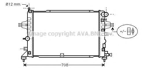OLA2381 Радиатор OPEL ASTRA H 2.0/2.2 04-