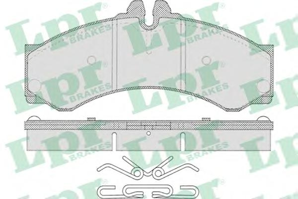 05P633 Колодки тормозные MERCEDES SPRINTER (901-904) 95-06/VW LT 28-46 96-06 пер./зад.