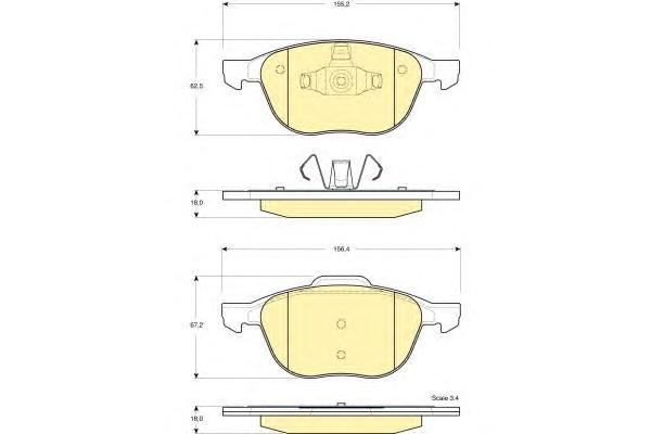 6115832 Колодки тормозные FORD FOCUS II 04-/III 10-/MAZDA 3 03-/VOLVO S40 04- передние