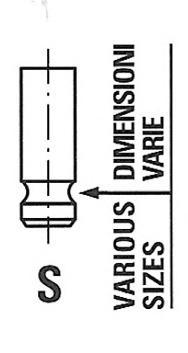 R6642RNT Клапан двигателя LEXUS, TOYOTA: 3.0i V6 1MZ-FE 96- 27.3x5.5x95.3 EX