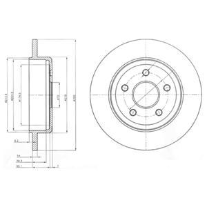 BG4160 Диск тормозной JEEP COMMANDER 05-/GRAND CHEROKEE II/III 00- задний D=320мм.