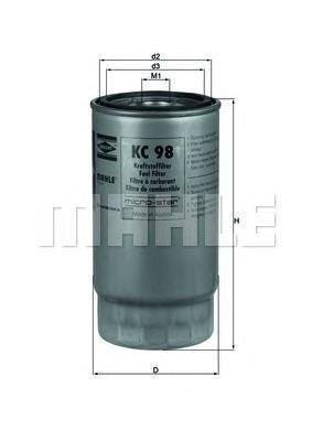 KC98 Фильтр топливный BMW E38 740D/730D