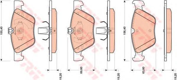 GDB1815 Колодки тормозные MERCEDES W210/211/208 200-320 передние