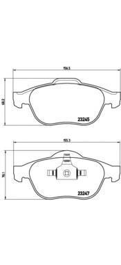 P68040 Колодки тормозные RENAULT LAGUNA 01-/SCENIC 03- передние
