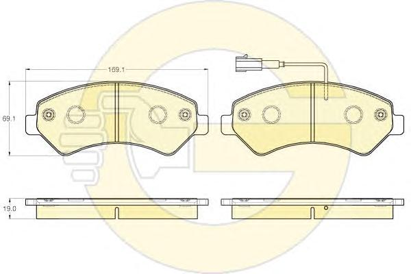 """6119825 Колодки тормозные CITROEN JUMPER/FIAT DUCATO/PEUGEOT BOXER R16"""" 06- передние"""