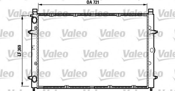 732397 Радиатор VW T4