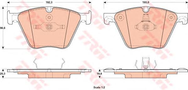 GDB1915 Колодки тормозные BMW 5 F07 09-/7 F01 10- передние