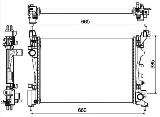 53115 Радиатор Opel Corsa D 10-
