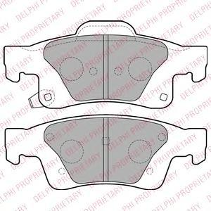 LP2251 Колодки тормозные JEEP GRAND CHEROKEE 10- задние