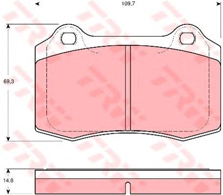 GDB1513 Колодки тормозные CITROEN DS3/JAGUAR перед./VOLVO S60/V70 задние