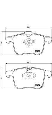 P59049 Колодки тормозные OPEL SIGNUM/VECTRA C 2.8-3.2 03-/SAAB 9-3 1.8-2.8 05- передние