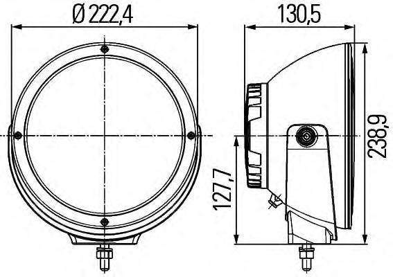 1F8011002001 Фара д/c Luminator LED