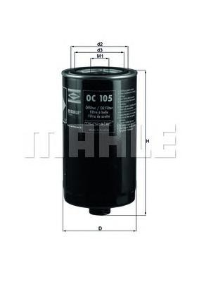 OC105 Фильтр масляный VW LT 2.4D/T4 2.5/2.5D