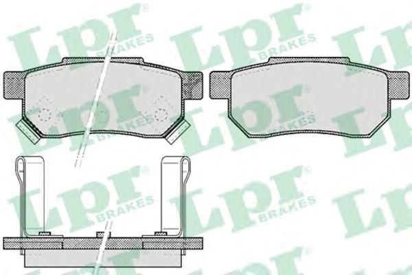 05P507 Колодки тормозные HONDA ACCORD 85-89/CIVIC 87-01 задние
