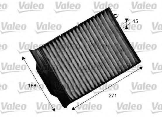 715539 Фильтр салона bm1b (угольный) - valeo