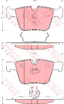 GDB1675 Колодки тормозные W164/W220/W221/R251 63/65AMG 04- задние