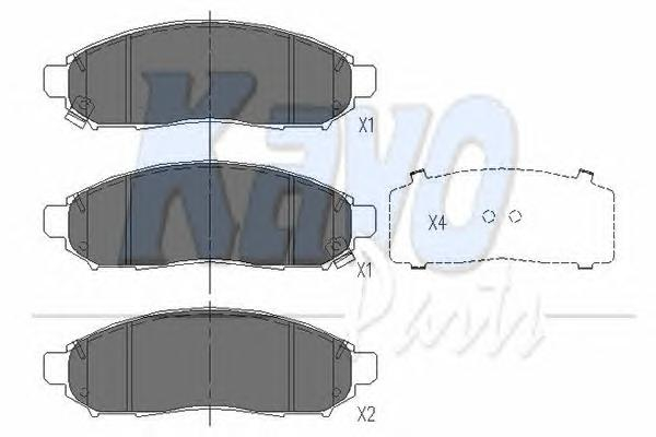 KBP6574 Колодки тормозные NISSAN NAVARA/PATHFINDER 2.5D 05- передние