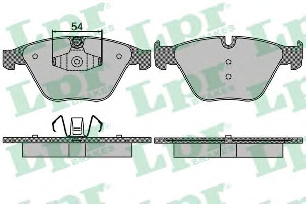 05P1509 Колодки тормозные BMW 3 E90/E91/X1 E84 передние