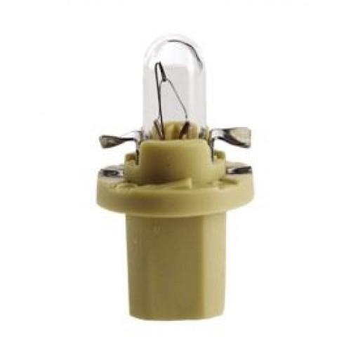 17052 Лампа накаливания 10шт в упаковке 12V 2W BX8,5D GREEN