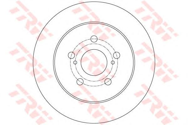 DF6145 Диск тормозной LEXUS: CT 200h 10-  SUBARU: TREZIA 1.3/1.4 D 11-  TOYOTA: PRIUS 1.8 Hybrid 09-, VERSU SU1.33/1.4 D4-D 10-