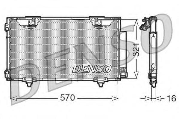 DCN50010 Конденсатор TOYOTA Avensis