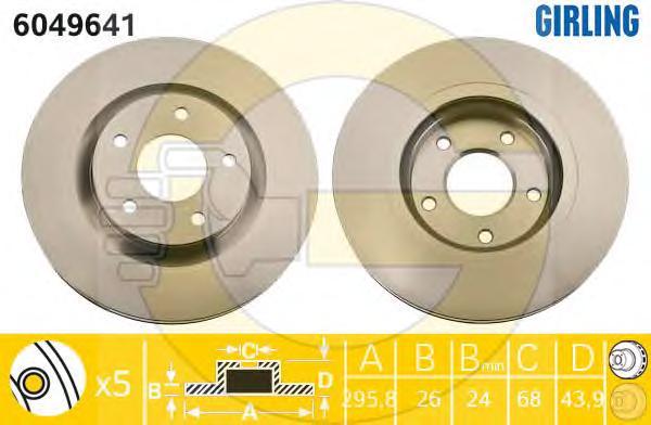 6049641 Диск тормозной NISSAN QASHQAI 07-/X-TRAIL 07-/RENAULT KOLEOS 08- передний вент.