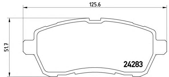 P24072 Колодки тормозные FORD FIESTA 08-/MAZDA 2 07- передние