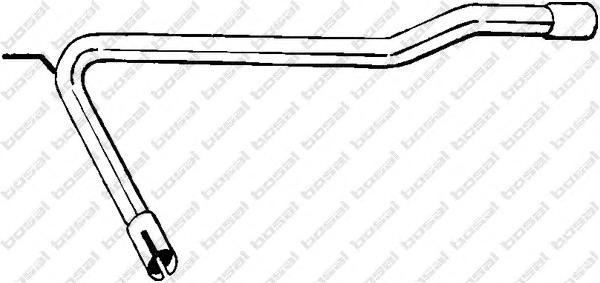 843737 Труба соединительная VW TRANSPORTER 2.0/1.9D/2.4D 90-95