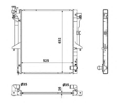 53907 Радиатор MI L200 2.5 DiD МКПП 12.05-
