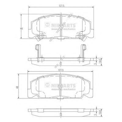 J3604027 Колодки тормозные HONDA ACCORD 1.6/1.8 83-85/CIVIC 1.4-1.6 88-95 передние