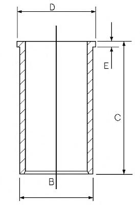 1402721000 Гильза блока цилиндров MB SPRINTER 95-06 Dфланца= 94,05мм