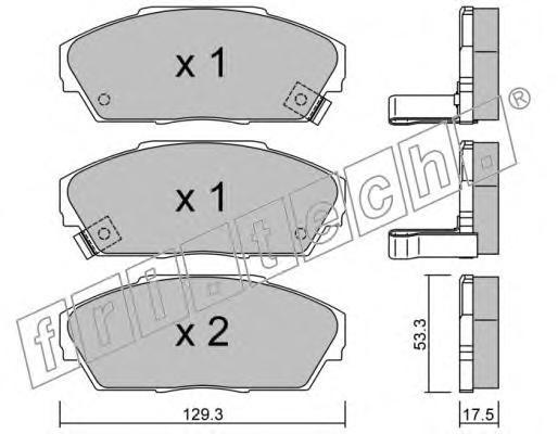 2340 Комплект тормозных колодок, дисковый тормоз