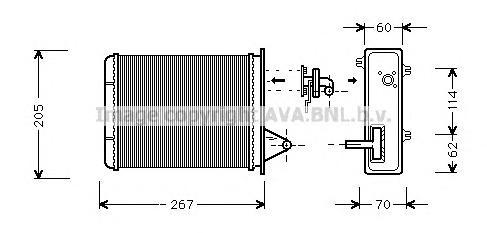 FT6089 Радиатор отопителя FIAT ALBEA 1.0-1.6 98-