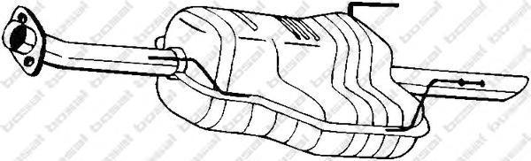 185603 Глушитель OPEL ASTRA G 1.8-2.0 98-04 (SEDAN)