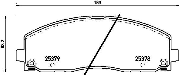 P11035 Колодки тормозные CHRYSLER GRAND VOYAGER/DODGE CARAVAN 12- передние