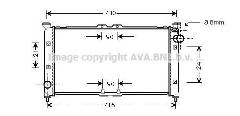 MZ2135 Радиатор MAZDA XEDOS 9 2.0/2.5 93-01