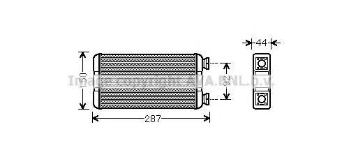 RTA6457 Радиатор отопителя NISSAN: INTERSTAR АВТОБУС (X70) DCI 90/DCI 100/DCI 120/DCI 150/DCI 80 02-, INTERSTAR ФУРГОН (X70) DCI
