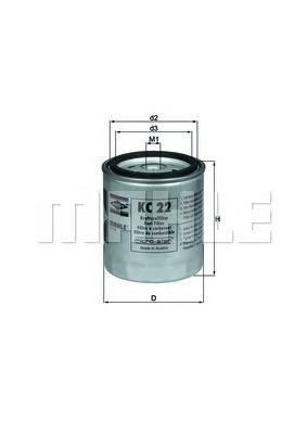 KC22 Фильтр топливный MB W123/W460 2.0D-3.0D 76-85