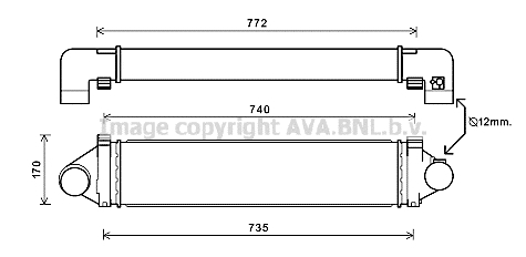 AUA4219 Интеркулер LAND ROVER FREELANDER 2.2TD 07-