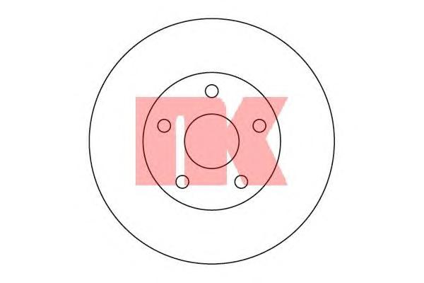 204560 Диск тормозной TOYOTA PREVIA 2.4 90-00 передний вент.D=279мм.