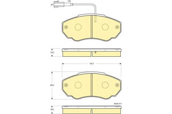 6115179 Колодки тормозные CITROEN JUMPER 02/FIAT DUCATO 02/PEUGEOT BOXER 02 передние