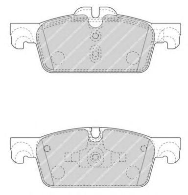 FDB4405 Колодки тормозные PEUGEOT 508 10- передние тор.диск D=283мм