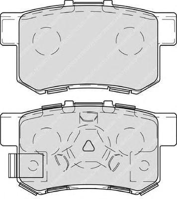 FDB4227 Колодки тормозные HONDA ACCORD 2.0-2.4 АКПП 08-/CR-V II 02-06/FR-V 05- задние