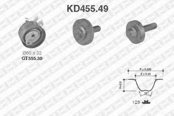 KD45549 Деталь KD455.49_pем.к-кт ГPМ! Renault C
