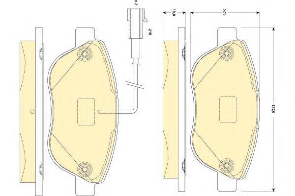 6118294 Колодки тормозные FIAT 500 10-/PUNTO 08- передние