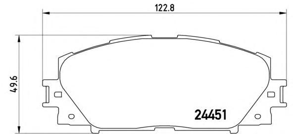 P83106 Колодки тормозные TOYOTA PRIUS 1.8 09-/LEXUS CT 1.8 11- передние
