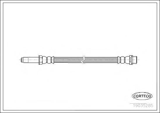 19035285 Шланг тормозной MERCEDES-BENZ: CLK кабрио 200 Kompressor 98-02, SPRINTER 2-t c бортовой платформой 208 CDI/208 D/210 D/