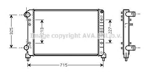 FTA2262 Радиатор FIAT DOBLO 1.9D 01-