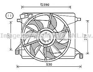 FD7560 Вентилятор радиатора FORD FOCUS/C-MAX 1.4/1.6 -A/C 04-